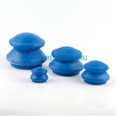 Антицеллюлитные массажные вакуумные банки резиновые - 4 шт.