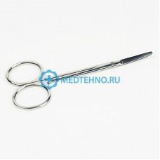 Ножницы глазные вертикально изогнутые тупоконечные 100 и 113 мм