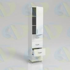 Шкаф для документов ЛДСП одностворчатый с 4 ящиками ШД1-9 на опорах 1900х400х400мм