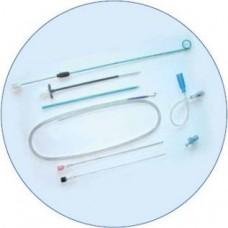 Нефростомический набор для ЧПНС, проводник, игла Чиба 18 G, набор простых дилятаторов, катетер Jтипа, коннектор